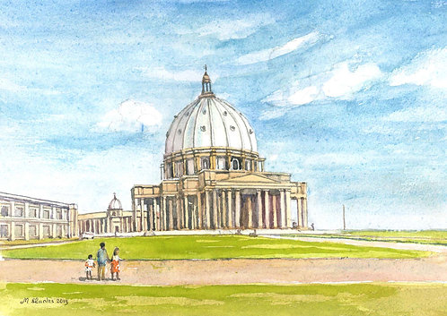 The Basilica of Our Lady of Peace, Yamoussoukro, 2019