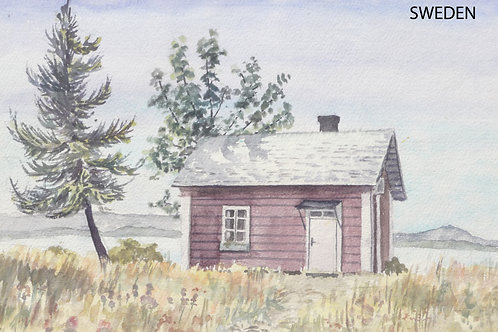 House by lake in the north, 1962