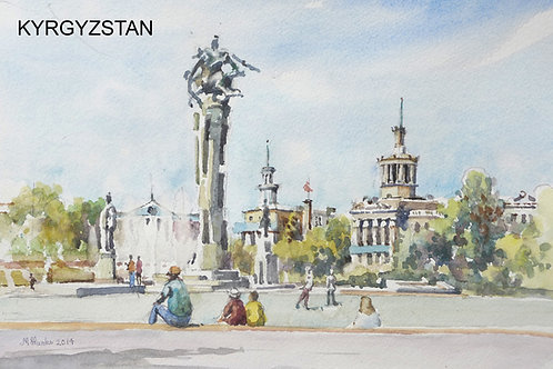 Manas Statue in central Bishkek