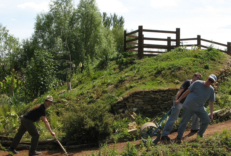 Laying the paths round the Wildlife Have
