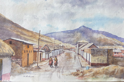 Village on road from Puno to Cuzco, 1971