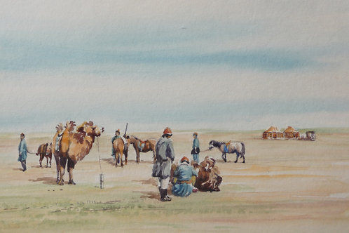 Herdsmans camp, Inner Mongolia, 1988