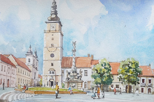 Main Square at Trnava, 1989