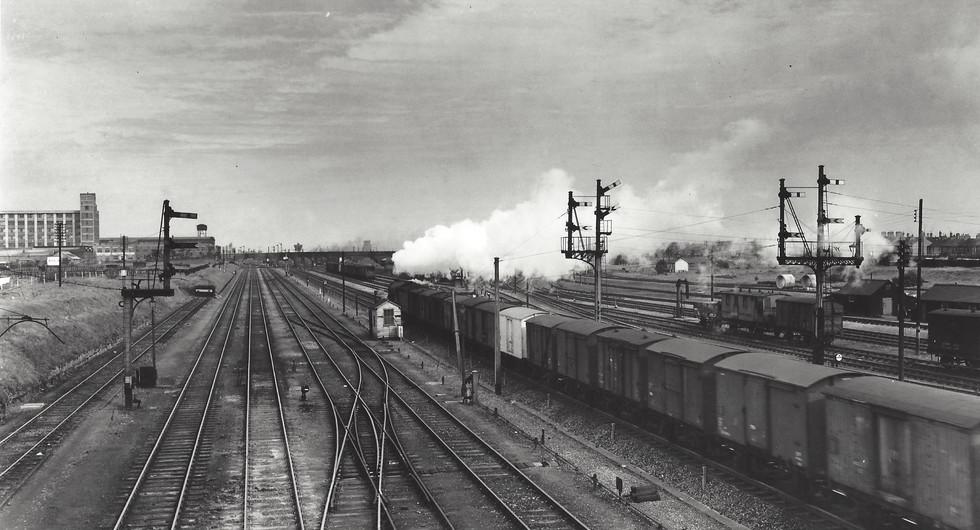 Peterborough - Looking north mid 1950's.