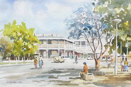 Harare street scene, 1981