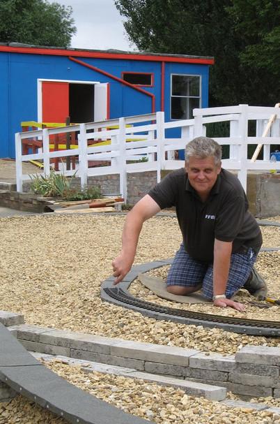 Bob designed and built the garden Railwa