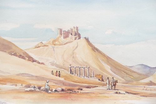Old fort in eastern desert, Palmyra, 1980