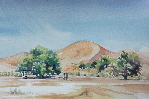 Towering sand dunes at Sossusvlei, 2005
