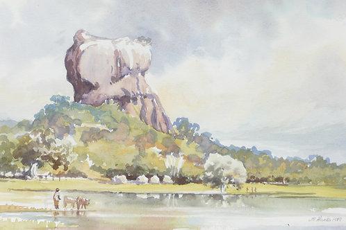 Spectacular Rock Fortress at Sigiriya, 1979