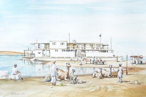Nile ferry at Wadi Halfa, 1982