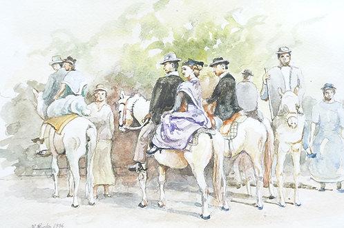 White  horses of the Camargue 1986