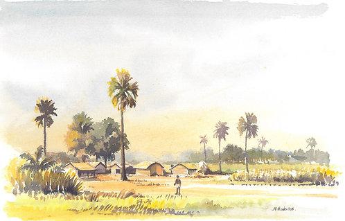 Country village north of Kolkata