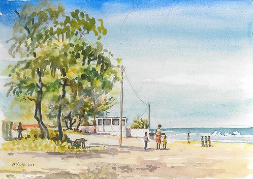 Bamboo Beach at Praia de Xai-Xai, 2006
