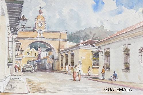 Attractive side street, Antigua, 2009