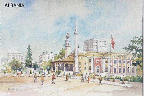 Skanderbeg Square in Tirana, 2005