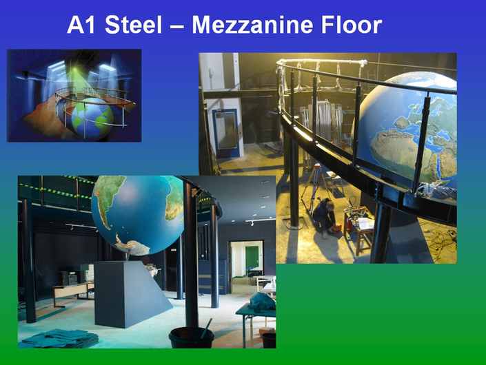 A1 Steel Donated a £20,000 Mez floor - F