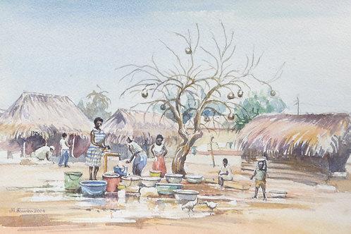 Village pump at Dzelukope in the Volta Region, 2004