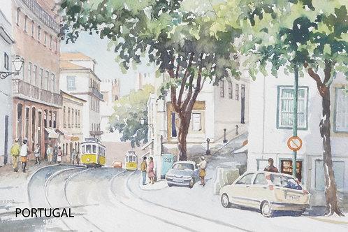 Lisbon Street Scene, 2002