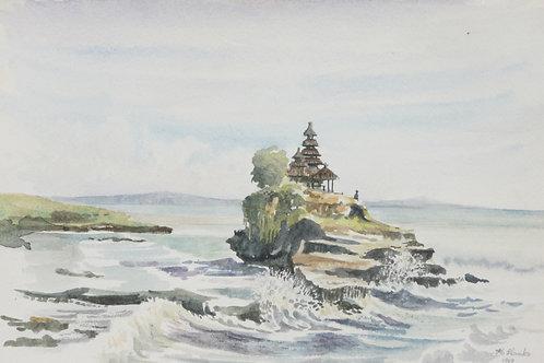 Tanah Lot Temple off Bali coast, 1969