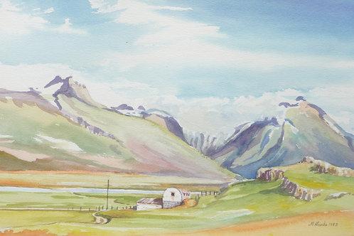 Countryside near Egilsstaðir, 1983