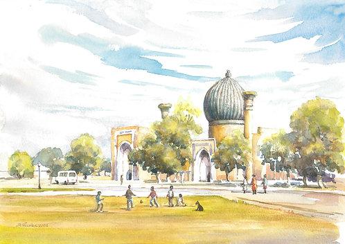 Ak Saray Mausoleum, Samarkand, 2001