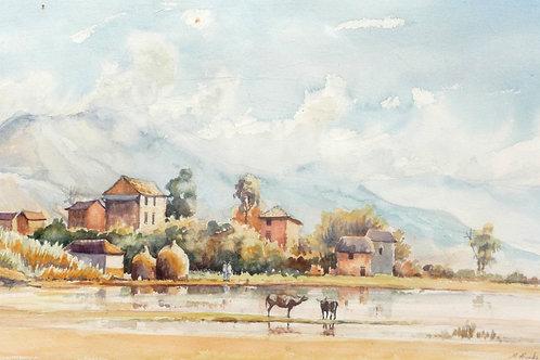 Village in Kathmandu Valley, 1968
