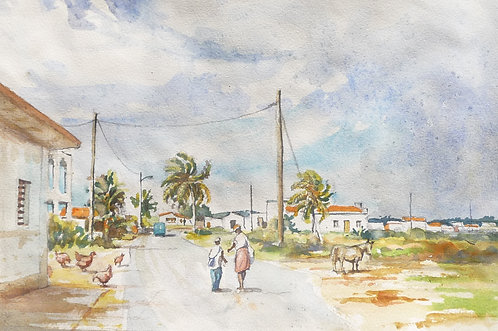 Country road scene, 2001
