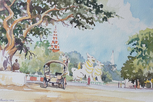 Road of temples, Mandalay, 1994
