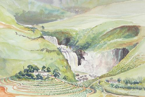 St Clair's Falls near Talawakele, 1979