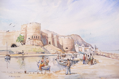 Kyrenia Harbour and Castle Fortress, 1984