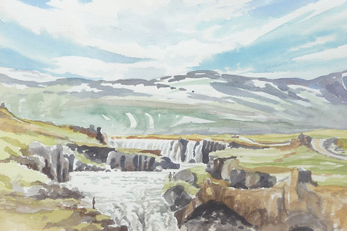 The Godafoss Waterfall, 1983