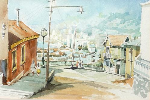View over Valparaiso, 1990