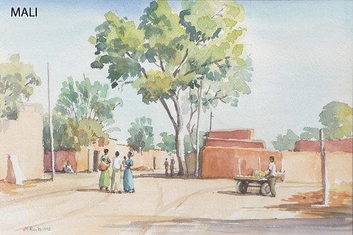 Street scene in Ségou, 1992