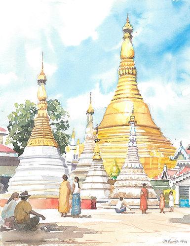 The Shwedagon Pagoda, 1994