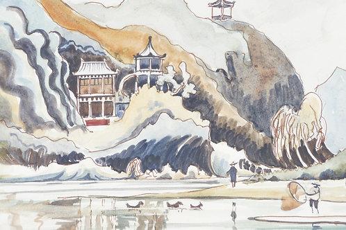 Cave temple near Kweilin City, 1974
