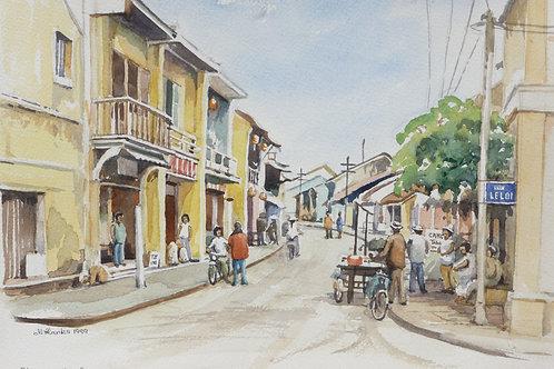 Street scene in old port of Hoi An, 1999