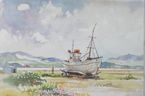 Old boat at Narsarsuaq, 2010