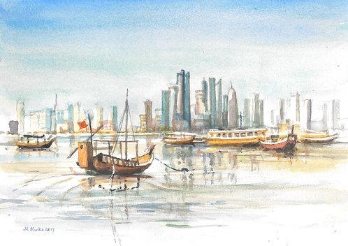 The Doha Corniche, 2017