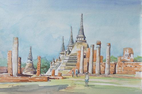An abandoned temple at Ayutthaya (B), 1994