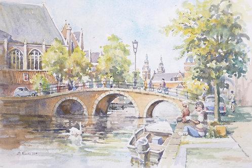 Canal Bridge, central Amsterdam