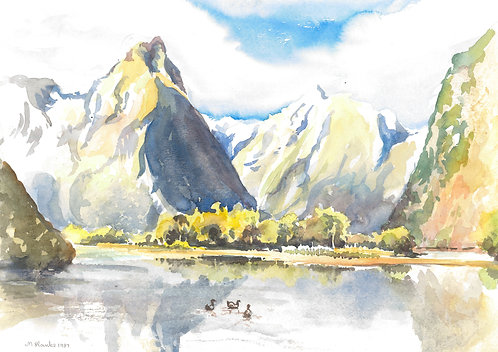Sandfly Point, end of The Milford Track, 1987