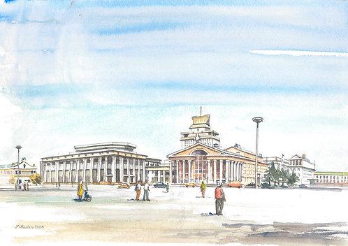 Sukhbaatar Square, Ulaanbaatar, 2004