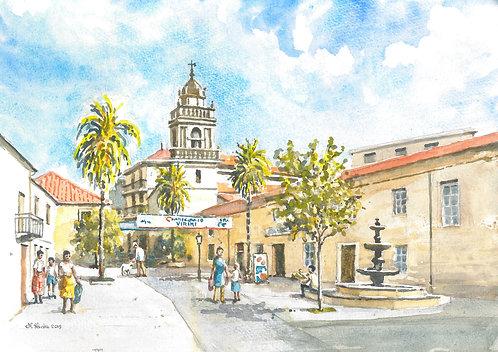 The historic centre of Verín, 2019