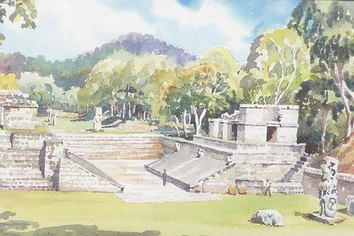 Mayan Ball Court at Copang, 1976