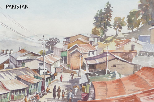 Old hill station of Murree, north of Islamabad, 1968