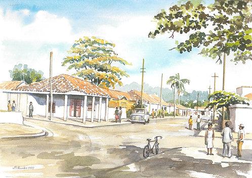 La Palma's main street, 1977
