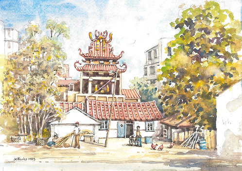 Small temple in Kaohsiung suburb,1985