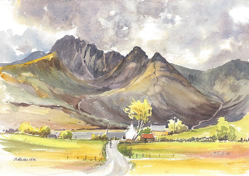 Blà Bheinn in the Cullins, Isle of Skye, 1976