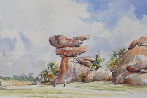Balancing Rocks near Harare, 1981