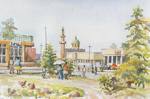 Modern mosque on Gisenyi's main street, 2016